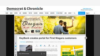 KeyBank creates portal for First Niagara customers