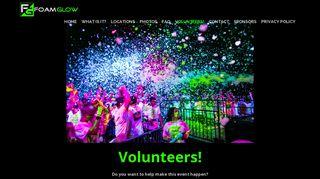 Volunteers! | Foam GlowFoam Glow