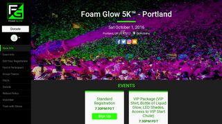 Foam Glow 5K™ - Portland - RunSignup