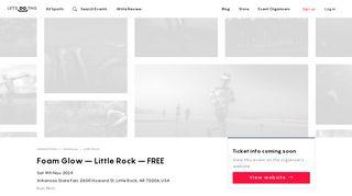 Foam Glow – Little Rock – FREE 2019 — Sat 9 Nov — Book Now at ...