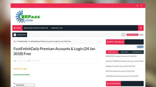 FootFetishDaily Premium Accounts & Login - Brpass.com
