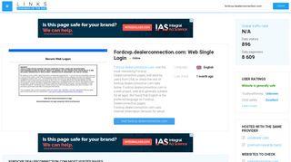 Visit Fordcvp.dealerconnection.com - Web Single Login.