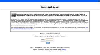 Web Single Login - Ford