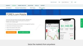 FOREX.com Mobile Apps | Download on iPhone or Android | FOREX ...