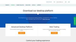 Download FOREX.com Desktop Platform | Forex Trading Platform ...