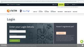 FXTM Trading Login | ForexTime (FXTM)