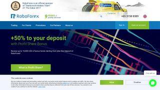RoboForex: Online Forex Trading - 24/5 | Forex Broker