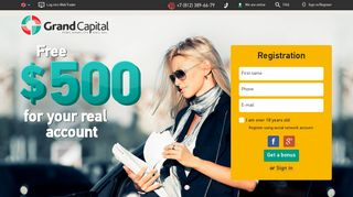 $500 No-Deposit Bonus for Forex trading – Grand Capital