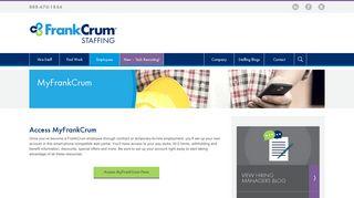 MyFrankCrum   Staffing Website