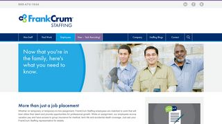 Employees   Staffing Website - FrankCrum Staffing