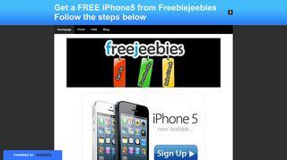 Get a FREE iPhone5 from Freebiejeebies Follow the steps below ...