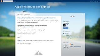 Apple.FreebieJeebies Sign Up