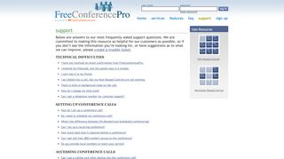 FreeConferencePro | FREE Conference Call Support