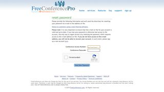 forgot password? - FreeConferencePro | Unlimited FREE Conference ...