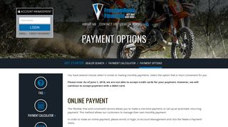 Payment Options | Freedom Road Financial | Oak Brook, IL ...
