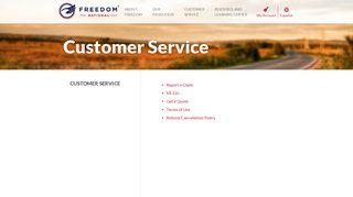 Customer Service - Freedom National