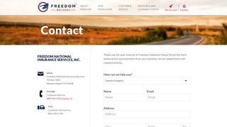 Contact - Freedom National