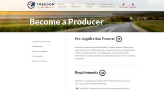 Become a Producer - Freedom National