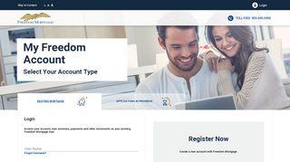 My Freedom Account Login   Freedom Mortgage