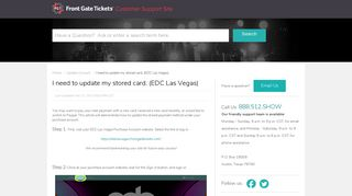 Front Gate Tickets | I need to update my stored card. (EDC La...