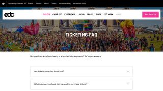 Ticketing FAQ – EDC Las Vegas 2019