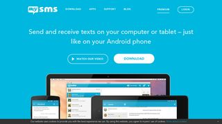 mysms - SMS texting from phone, computer & tablet