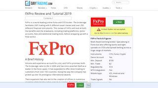 FXPro Review - cTrader, Webtrader and direct MT4 Account reviews