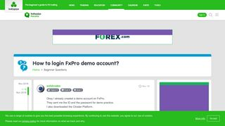 How to login FxPro demo account? - Beginner Questions - BabyPips ...