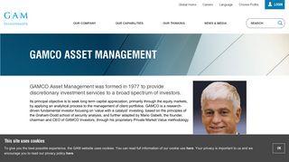 GAMCO Asset Management   GAM
