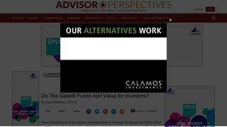 Do The Gabelli Funds Add Value for Investors? - Articles - Advisor ...