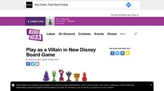 Play as a Villain in New Disney Board Game - KiSS 103.1