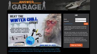 Answer Garage - Login