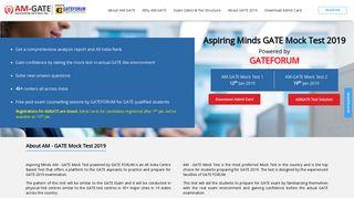 Aspiring Minds Gate Mock Test 2019 - Amcat