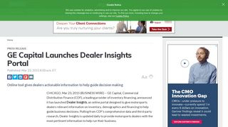 GE Capital Launches Dealer Insights Portal - MarketWatch