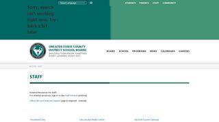 Staff - Greater Essex County District School Board
