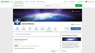 General Atomics Employee Benefit: Health Insurance   Glassdoor