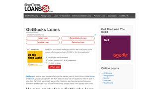 GetBucks Loans - ShortTermLoans24