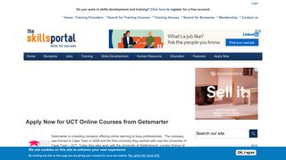 Apply Now for UCT Online Courses from Getsmarter   Skills Portal
