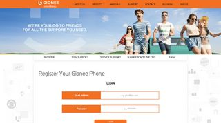 Register Your Gionee Phone | Gionee