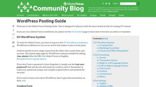 Global Voices Community Blog » WordPress Posting Guide