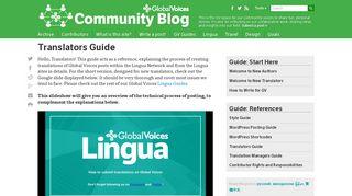 Global Voices Community Blog » Translators Guide
