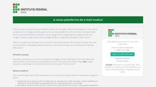 Sisemail - Sistema de Gerenciamento de Email Institucional do IFCE