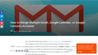 How to Merge Multiple Gmail, Google Calendar, or Google Contacts ...