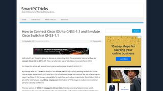 How to Connect Cisco IOU to GNS3-1.1 and Emulate Cisco Switch in ...