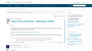 Cisco IOU on Windows - Switching in GNS3 - 87789 - The Cisco ...