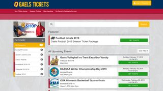Queens Gaels Tickets - Box Office Home