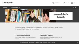 Accommodation for current residents | Goldsmiths, University of ...