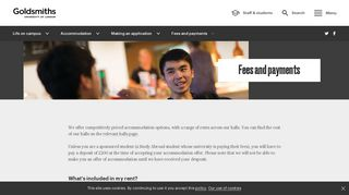 Fees and payments | Goldsmiths, University of London