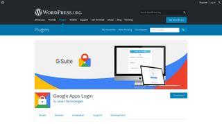 Google Apps Login | WordPress.org