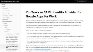 YouTrack as SAML Identity Provider for Google Apps for Work - Help ...